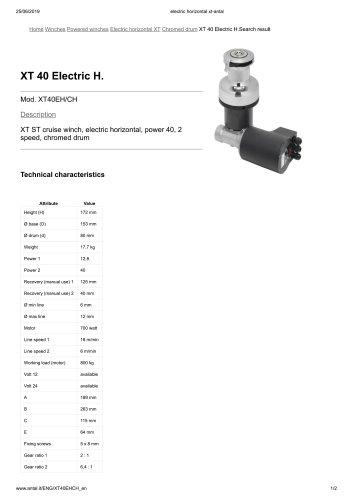 XT 40 Electric H.
