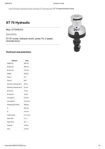 XT 70 Hydraulic
