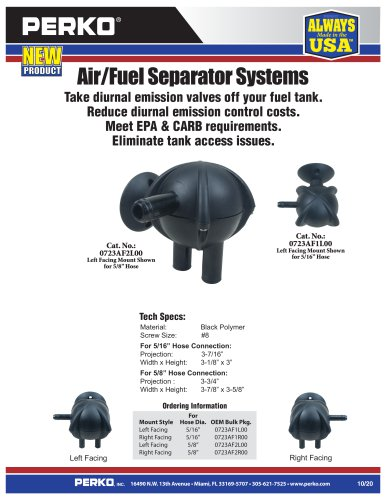 New Air/Fuel Separator (New Compact Design)
