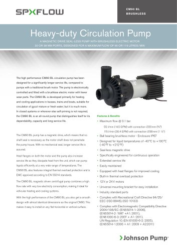 CM90 BL Heavy-duty Circulating pump with Brushless electric motor