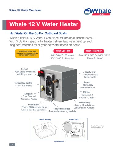 12 V Water Heater Datasheet