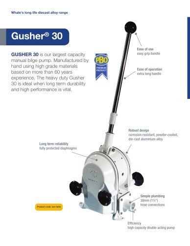 Gusher 30 Manual Bilge Pump