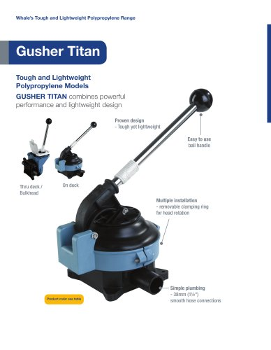 Gusher Titan Manual Bilge Pump