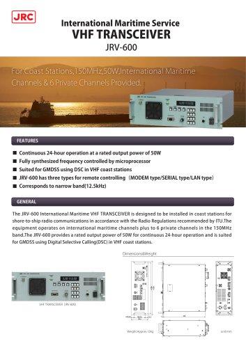 VHF Transceiver Equipment JRV-600