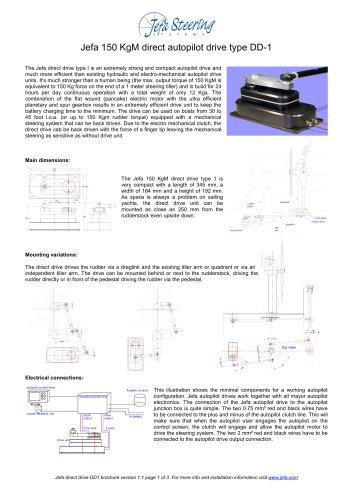 Jefa 150 KgM direct autopilot drive type DD-1