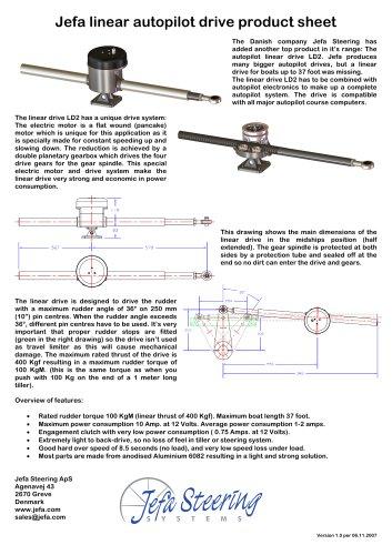 Jefa linear autopilot drive product sheet