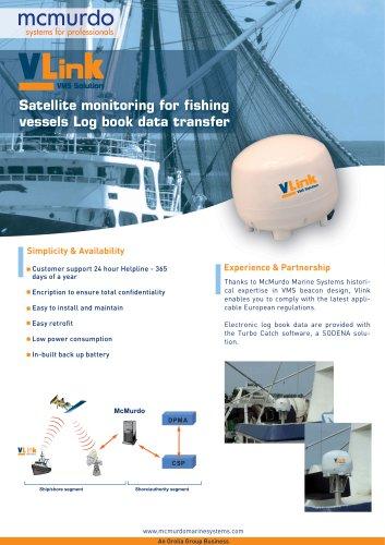 Satellite monitoring for fishing vessels Log book data transfer
