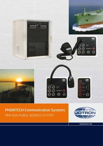 MPA 1600 PUBLIC ADDRESS SYSTEM