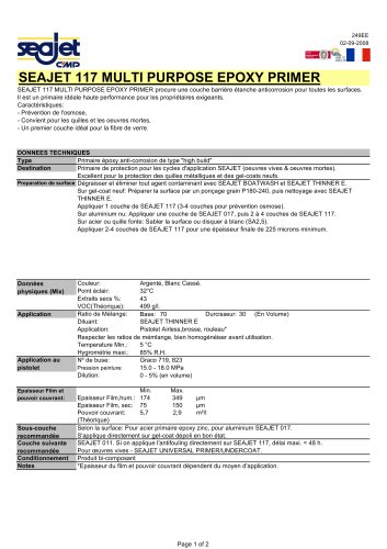 Seajet 117 Multi Purpose Epoxy Primer