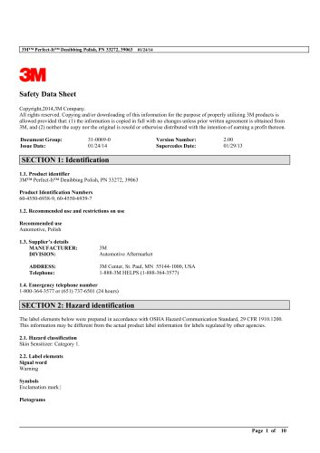 3M™Perfect-It™Denibbing Polish, PN 33272, 39063