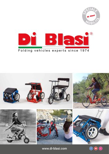 Mobility scooter and adult tricycle DI BLASI Brochure