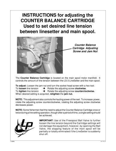 Counter Balance Adjustment (Old Style)