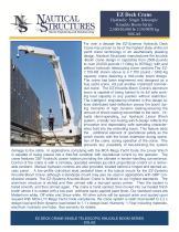 EZ Deck Crane Hydraulic Single Telescopic Knuckle Boom Series