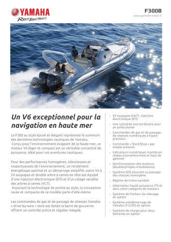 Un V6 exceptionnel pour la navigation en haute mer
