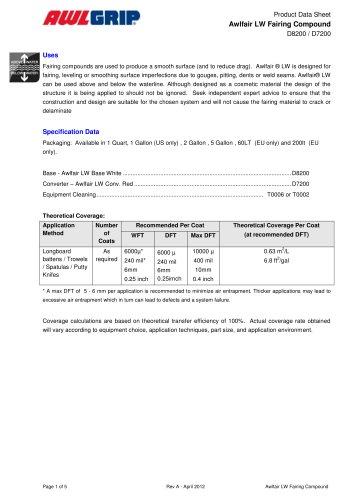 Awlfair LW Fairing Compound D8200 / D7200