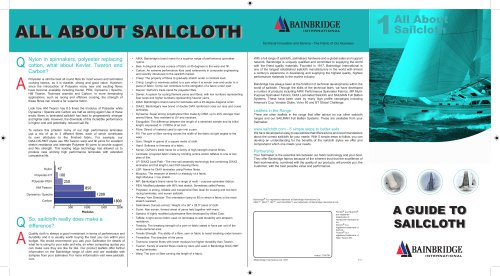 ALL ABOUT  SAILCLOTH