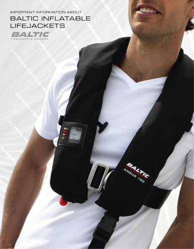 Information about inflatable lifejackets