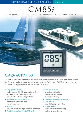 CM85i - The Intelligent Autopilot Solution For Sail and Power
