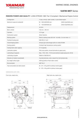 Specification datasheet - 12AYM-WET