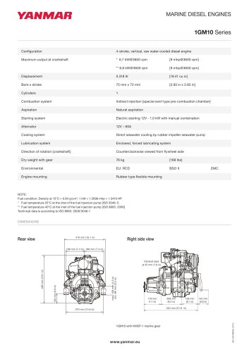 Specification datasheet - 1GM10