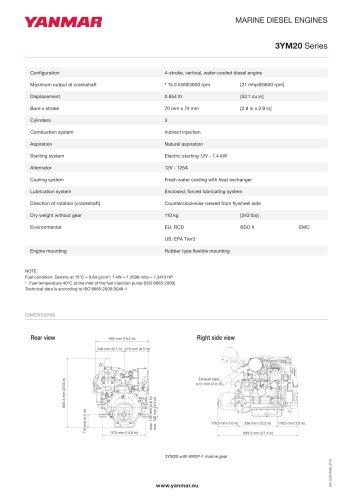 Specification datasheet - 3YM20