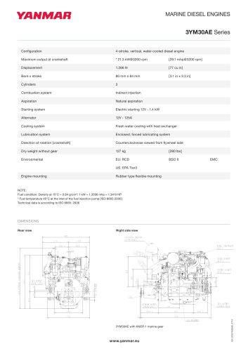 Specification Datasheet - 3YM30AE