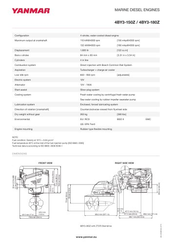 Specification Datasheet - 4BY3-180Z
