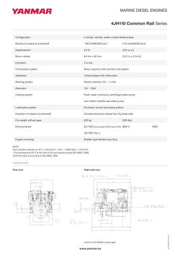 Specification datasheet - 4JH110 CR