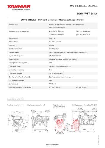 Specification datasheet - 6AYM-WET