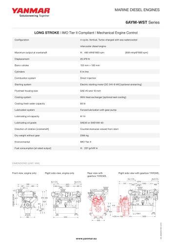 Specification datasheet - 6AYM-WST