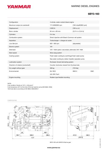Specification datasheet - 6BY3-160
