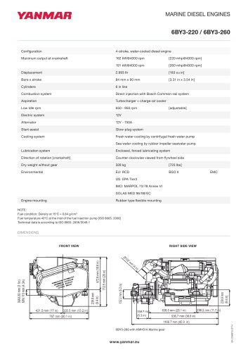 Specification datasheet - 6BY3-220