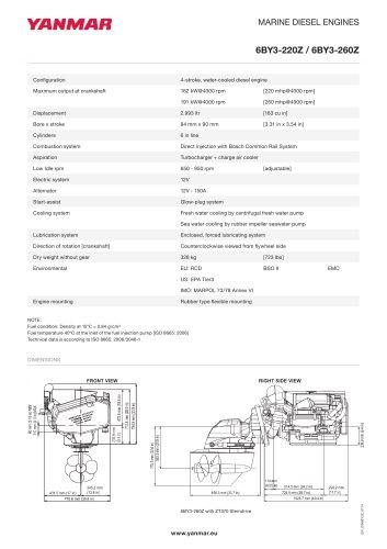 Specification Datasheet - 6BY3-260Z