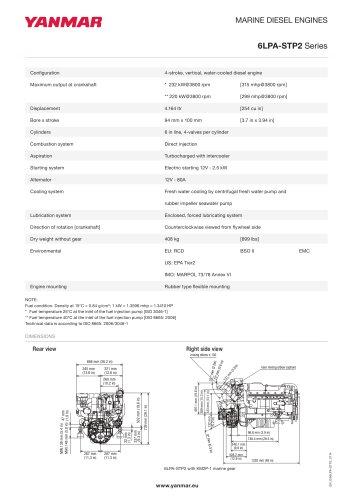 Specification datasheet - 6LPA-STP2