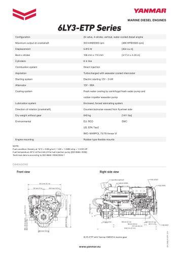 Specification Datasheet - 6LY3-ETP
