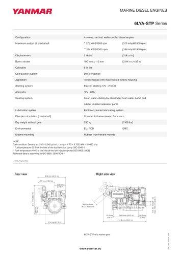 Specification datasheet - 6LYA-STP