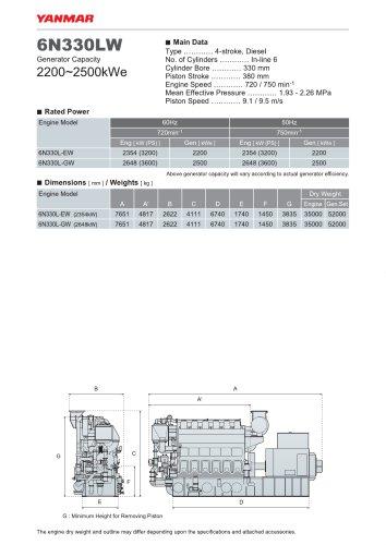 Specification datasheet - 6N330LW