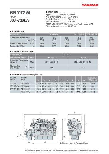 Specification datasheet 6RY17W
