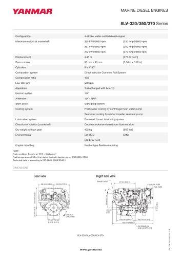 Specification datasheet - 8LV-320