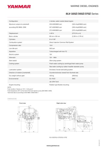 Specification Datasheet - 8LV-320Z