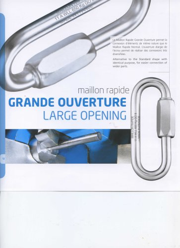 Grande ouverture - Large Opening