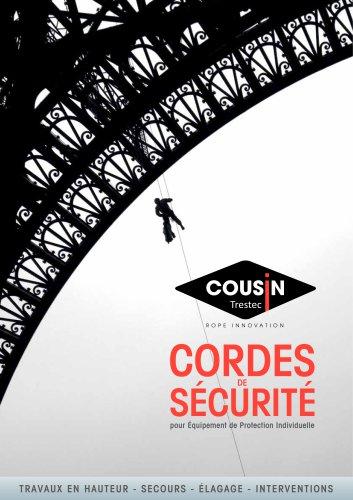 Catalogue produits Cordes de sécurité EPI