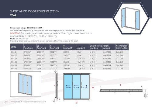DOOR FOLDING SYSTEM 2064 series