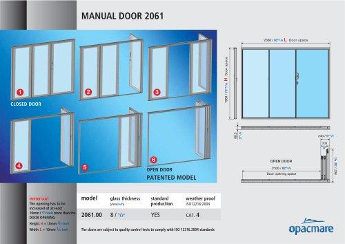 manual door model 2061