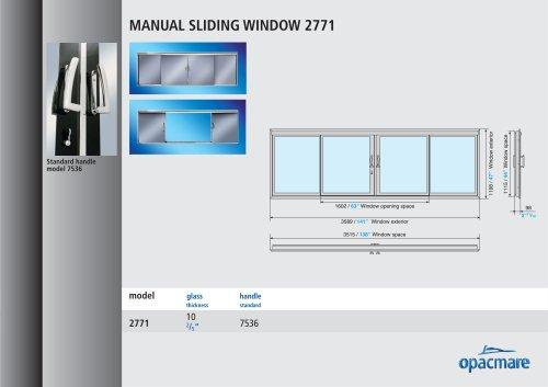 manual window model  2771