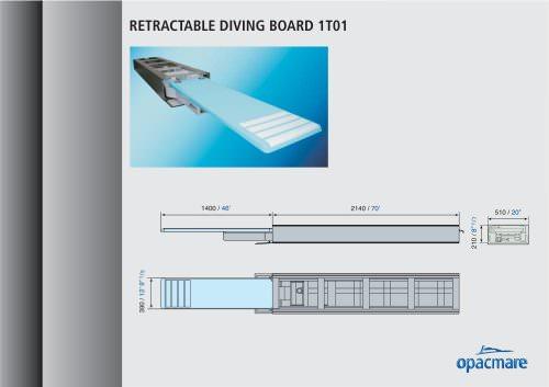 retractable diving board model 1T01