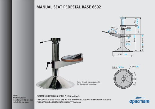 seat bases model 6692