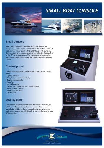 Small boat console
