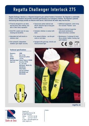Inflatable lifejackets - Challenger Interlock