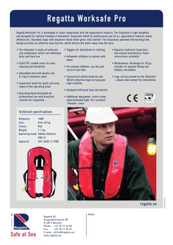 Inflatable lifejackets - Worksafe Pro